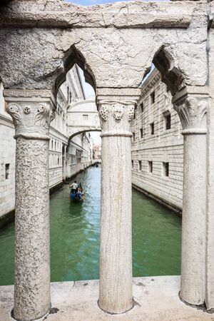 Bridge of sighs at the dodges place with gondola