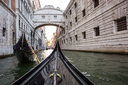 chanel: Venice with Grand canal, Italy from a Gondola Stock Photo