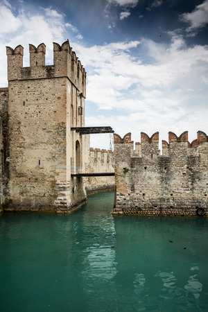 castello: Castle Scaliger in  Sirmione on lake Garda. Italy