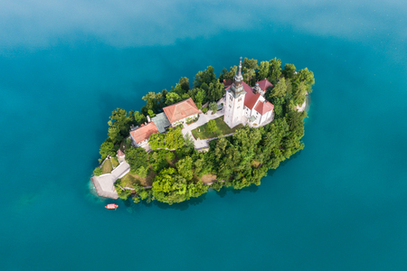 The Church of the Assumption, Bled, Slovenia Imagens - 81806641