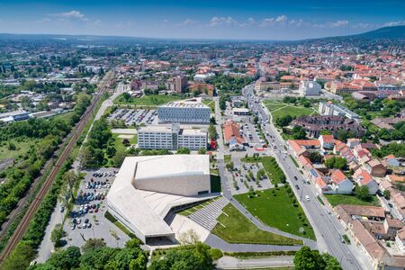 Bird eye view of Pecs, Hungary