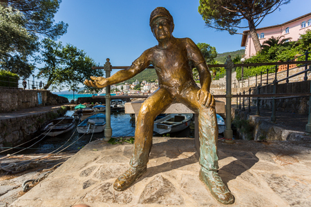 Sailor sculpture in park of St. Jacob in Opatija, Croatia