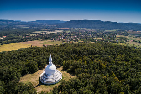 Peace Stupa in Zalaszanto, Hungary Stock Photo