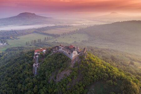 Mooie vesting van Szigliget, Hongarije Stockfoto