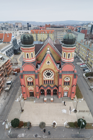 Aerial photo of Synagogue in Zalaegerszeg