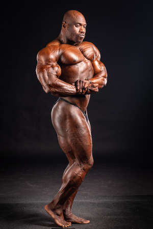 2019 in Budapest, hungary, HUNGARY - OCT 13: Nathan De Asha studio photo after Fitparade 2019 IFBB PRO bodybuilding championship on Oct 13, Budapest Editorial