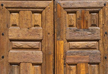 textured brown wooden old door