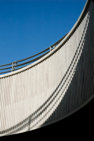 Modern abstract concrete buliding arc