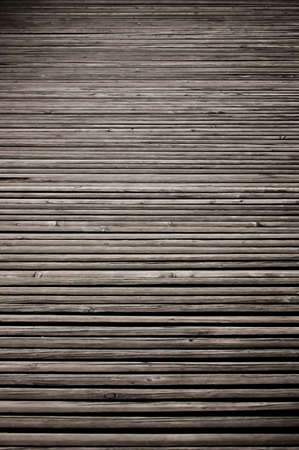 Old original vintage wood timber floor texture in perspective background