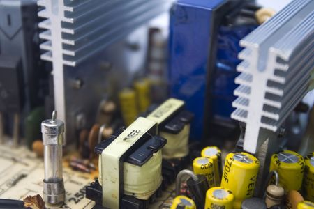 circuito electrico: Placa de circuitos el�ctricos con fusibles  Foto de archivo