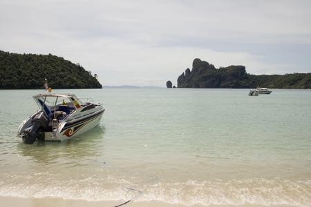 Thailand speedboat at Phi Phi Island docks in Phuket photo