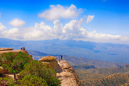 View from Windy Point on Mount Lemmon in Arizona Banco de Imagens