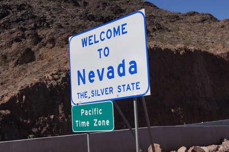 Nevada Sign on Arizona stateline