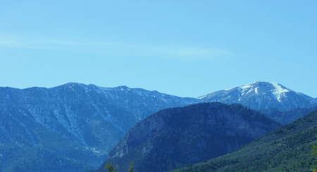 Mount Charleston, Nevada mountain top view  Stock fotó