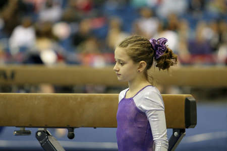 Gymnast about to compete photo
