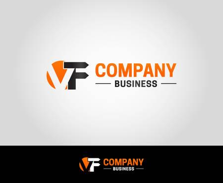 VF Logo Design Template Logó