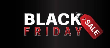 Black Friday Sale Simple Banner Vector Illustration