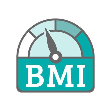 BMI Body Mass Index Icon Illustration
