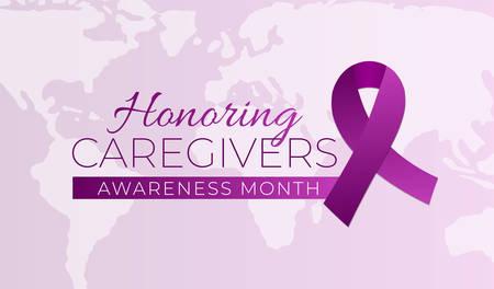 Honoring Caregivers Awareness Month Background Illustration