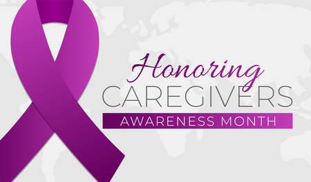 Honoring Caregivers Awareness Month Background Illustration Banner Illustration