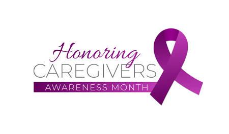 Honoring Caregivers Awareness Month Isolated Logo Icon Sign Illustration