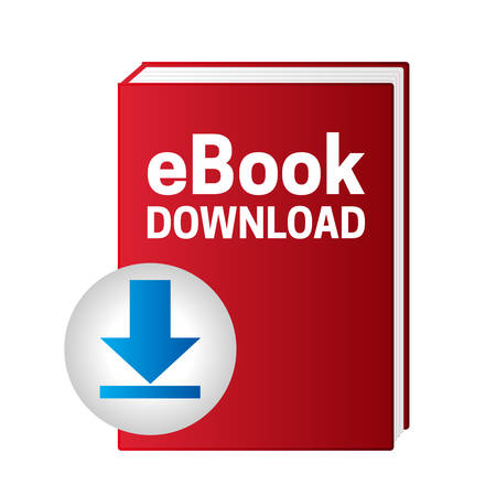 Red Ebook Download Icon