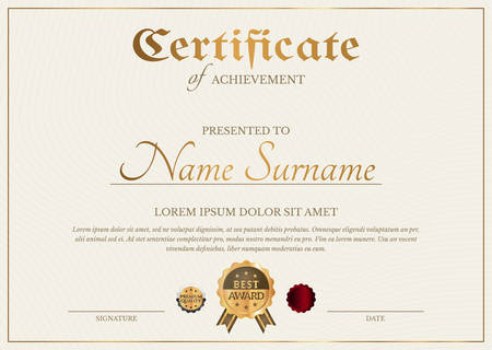 Certificate Diploma Template in Simple Classic Style