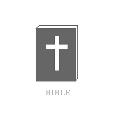 Bible Icon with Cross Isolated Vettoriali
