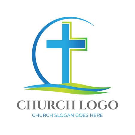 Christian Church Logo Design Illustration