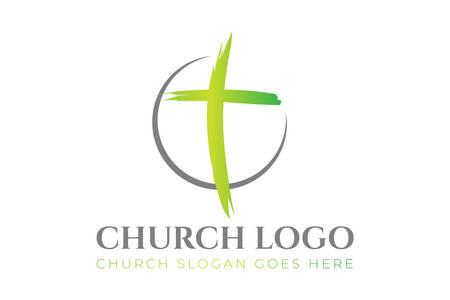 Christian Church Logo Design  イラスト・ベクター素材