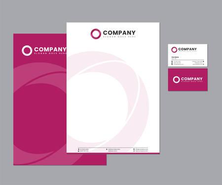 Pink Stationery Set with Logo Design