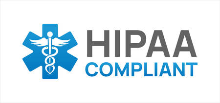 HIPAA Compliant Icon with white background.