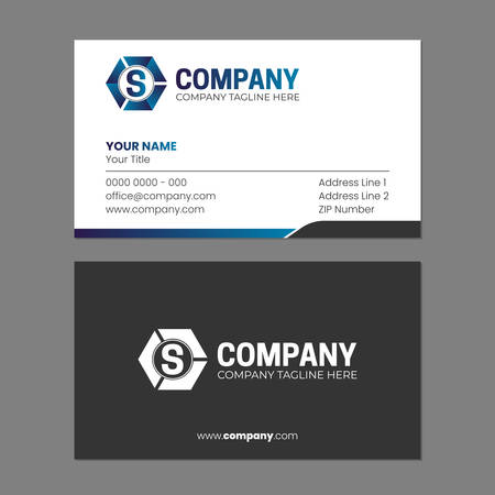 Initial Abstract and Business Card Design Template