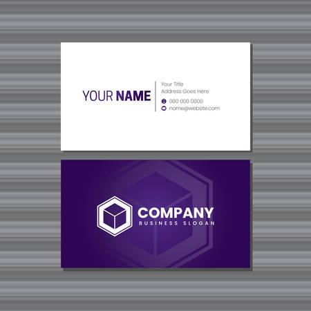 Purple Company Business Card Template