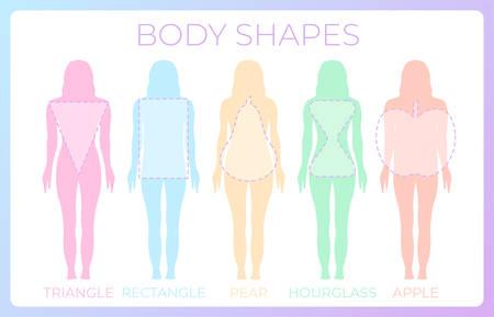 Woman Body Shape Background Illustration