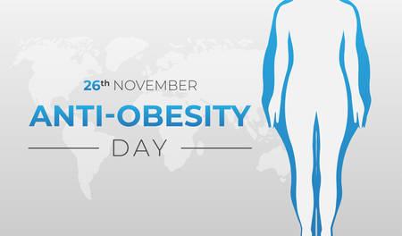 Anti-Obesity Day Background Illustration Banner Illusztráció