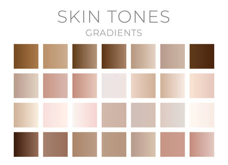 Gradient Skin Color Swatches