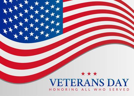 Veterans Day USA Flag Illustration Vector Illustratie