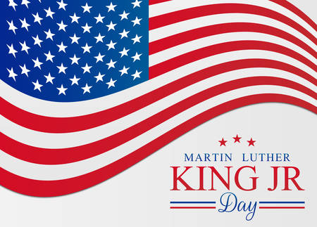 MLK Martin Luther King Jr. Day Vector Illustration Background