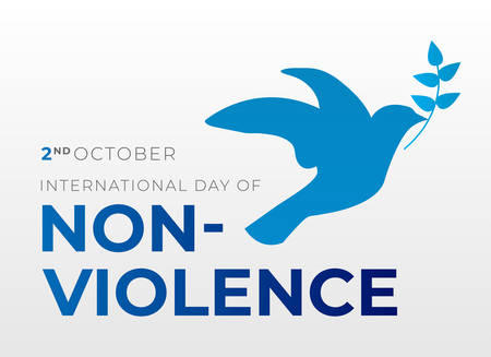 International Day of Non-Violence Background Illustration with Dove Illustration