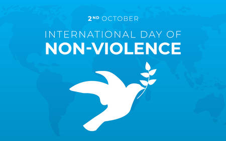 International Day of Non-Violence Background Illustration