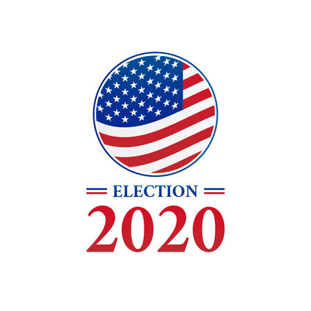 Presidential Election 2020 Logo Icon Illustration 向量圖像