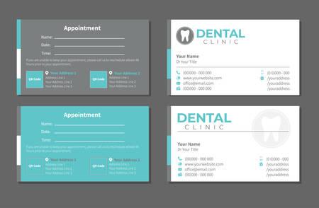 Dental Dentist Business Card Vetores