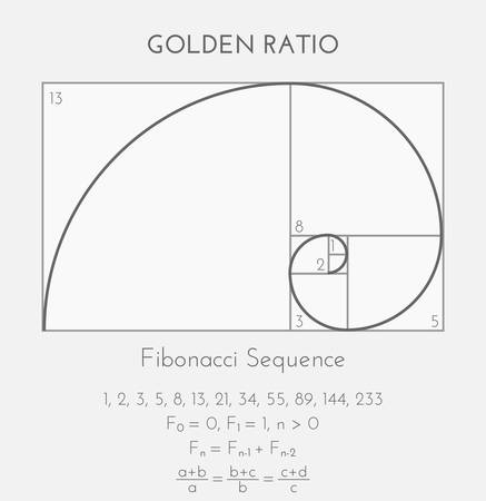 Fibonacci or Golden Ratio Background Illustration