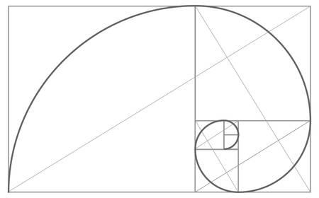 Fibonacci or Golden Ratio Background Illustration Ilustración de vector