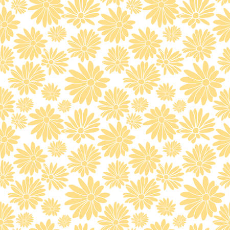 Light Yellow Flower Floral Textile Pattern