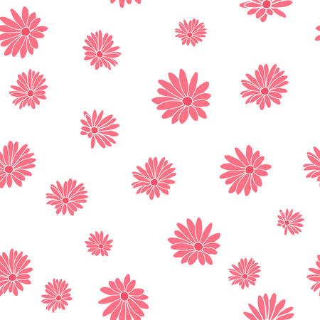 Small Pink Margaret Flower Floral Textile Repeat Pattern Background
