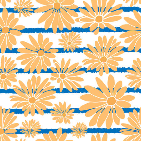 Stripes Flower Floral Textile Repeat Pattern Background