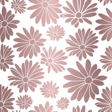 Rose Gold Flower Floral Textile Repeat Pattern Background