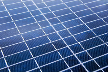 Solar Panel Cells for Renewable Energy Close Up